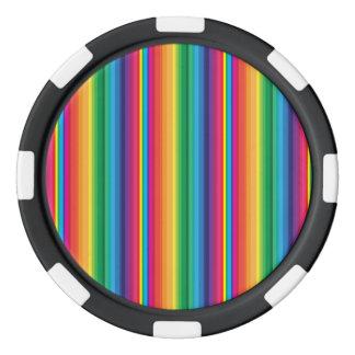ストライプな虹 ポーカーチップ