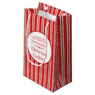 ストライプので赤い緑のクッキーの交換/ベーキングまたは焼くことのギフトバッグ スモールペーパーバッグ