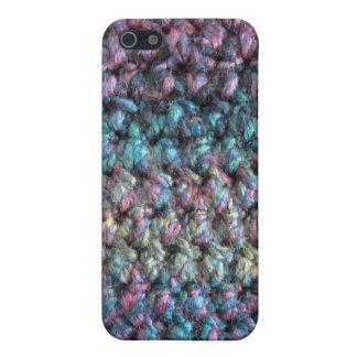ストライプのなかぎ針編みの編まれたウール iPhone 5 カバー