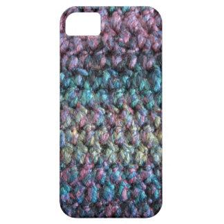 ストライプのなかぎ針編みの編まれたウール iPhone SE/5/5s ケース