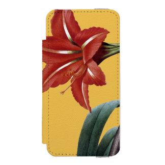 ストライプのなアマリリス INCIPIO WATSON™ iPhone 5 財布 ケース