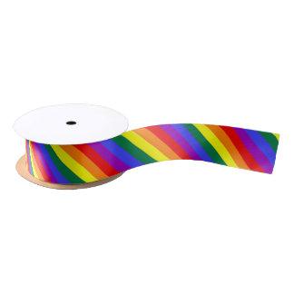 ストライプのなゲイプライドの虹 サテンリボン