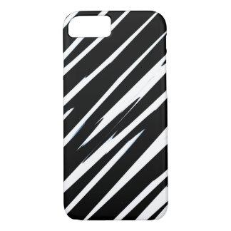 ストライプのなシマウマ! (黒く及び白くストライプのなデザイン) iPhone 8/7ケース
