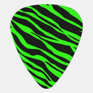 ストライプのなネオン緑のシマウマ ギターピック