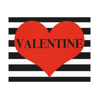 ストライプのなバレンタイン キャンバスプリント