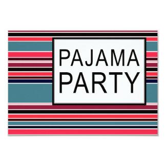 ストライプのなパジャマ・パーティー カード