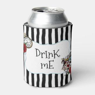ストライプのな不思議の国のアリスは私を飲みます 缶クーラー
