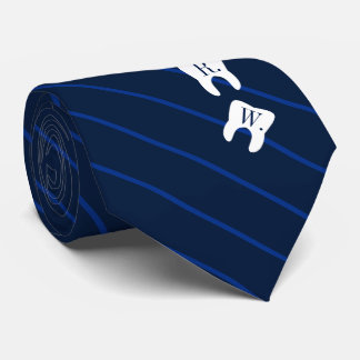 ストライプのな海軍歯科によって初期設定される歯 ネクタイ
