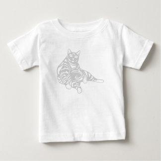 ストライプのな猫 ベビーTシャツ