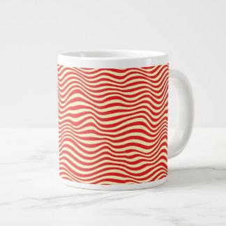 ストライプのな背景 ジャンボコーヒーマグカップ