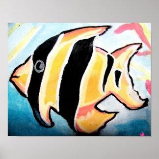 ストライプのな魚 ポスター