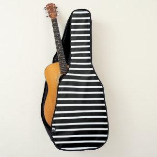 ストライプのな黒いH ギターケース