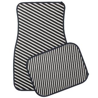 ストライプパターン黒及び白 カーマット