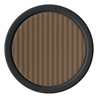 ストライプ-ブラウンおよび焦茶薄くして下さい ポーカーチップ
