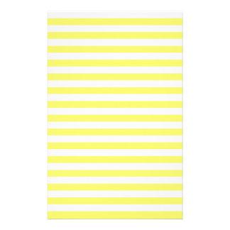 ストライプ-白およびレモン薄くして下さい 便箋