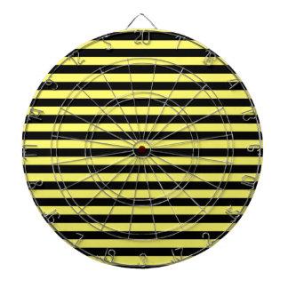 ストライプ-黒およびレモン薄くして下さい ダーツボード