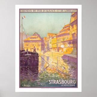 ストラスブールのヴィンテージ旅行 ポスター