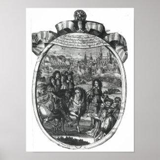 ストラスブールの王ルイ14世の記入項目 ポスター