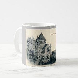 ストラスブールフランスの旧式なシナゴーグの郵便はがきのマグ コーヒーマグカップ