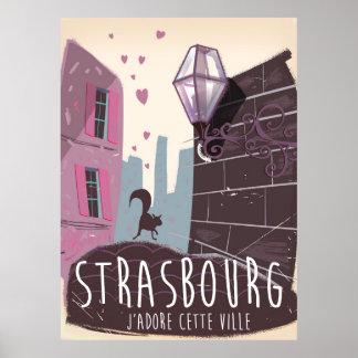 ストラスブールフランス都市旅行ポスター ポスター