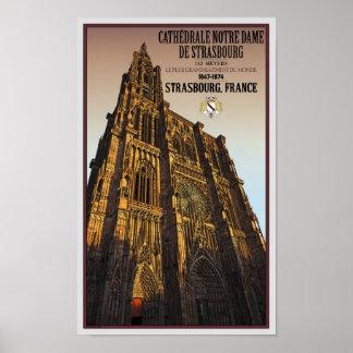ストラスブール-カテドラルNotre Dame ポスター