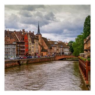 ストラスブール、フランスの聖者ニコラスの波止場 ポスター