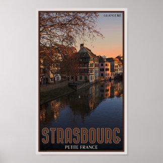 ストラスブール-小柄いフランス--の日の出 ポスター