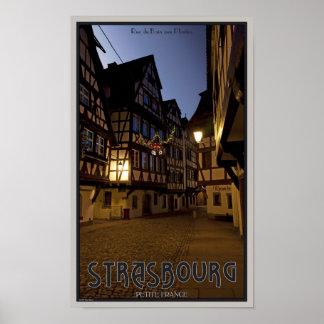 ストラスブール-小柄いフランス--の早朝 ポスター