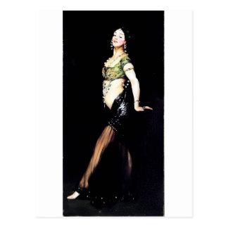 ストリッパーの女性の絵画 ポストカード
