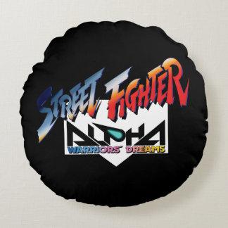 ストリート・ファイターのアルファのロゴ ラウンドクッション