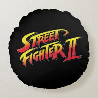 ストリート・ファイターIIのロゴ ラウンドクッション