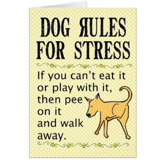 ストレスのための犬の規則 カード