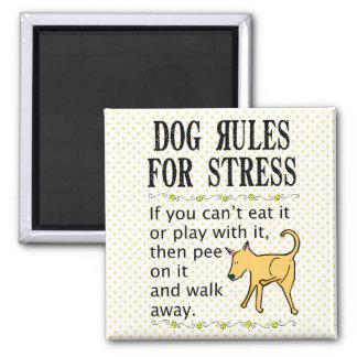 ストレスのための犬の規則 マグネット