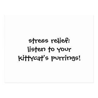 ストレスレリーフ、浮き彫り: あなたのkittycatにpurringsを聞いて下さい ポストカード