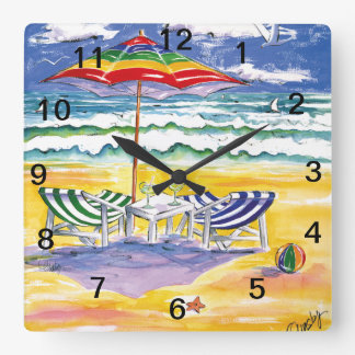 ストレス壁の時計を生き延びること スクエア壁時計