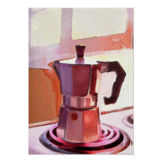 ストーブのコーヒー ポスター