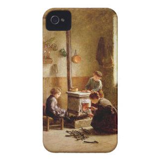 ストーブをつけます、1886年(パネルの油) Case-Mate iPhone 4 ケース