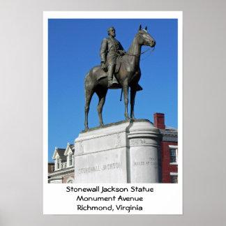ストーンウォールジャクソンの彫像 ポスター