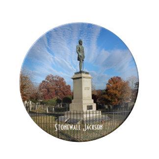 ストーンウォールジャクソン記念碑-写真 磁器プレート