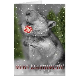スナネズミのクリスマスの夢 カード