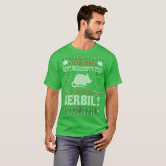 スナネズミのクリスマスの醜いセーターとのすばらしい時間 Tシャツ