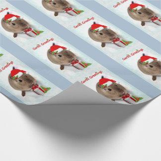 スナネズミの挨拶の包装紙 ラッピングペーパー