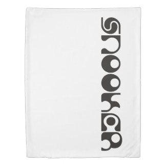 スヌーカーのモダンなフォント + あなたのアイディア 掛け布団カバー