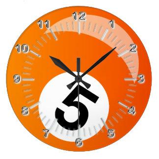 スヌーカーの玉突の玉 ラージ壁時計