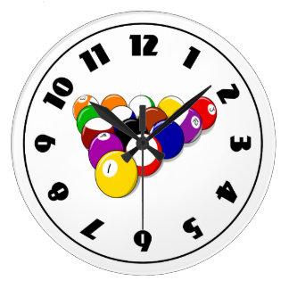 スヌーカーの球の時計 ラージ壁時計