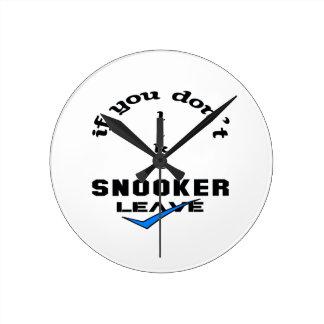 スヌーカーの許可を好まなければ ラウンド壁時計