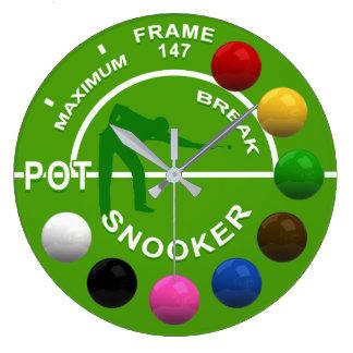 スヌーカープレーヤーの最高の壊れ目の時計 ラージ壁時計