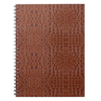 スネークスキンの革ノート3b - ノートブック