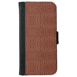 スネークスキンの革箱3b iPhone 6/6s ウォレットケース