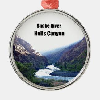 スネーク川の地獄渓谷 メタルオーナメント
